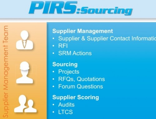 Master your supplier data with PIRS:Sourcing